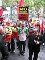 Anti-privatisation march