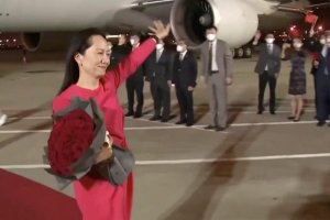 Victory for China: Meng returns home
